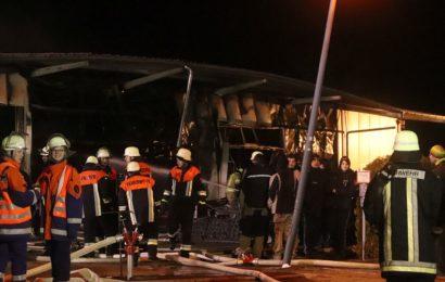 Brand einer Holzlege mit angrenzender Werkstatt in Teublitz