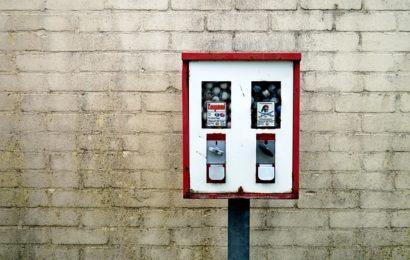 Kaugummiautomat aufgebrochen