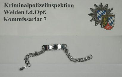 Nach Einbruch in Autowerkstatt in Vohenstrauß – wem gehört das Silberarmband?