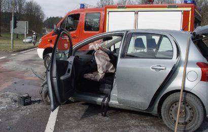 Verkehrsunfall auf der B85