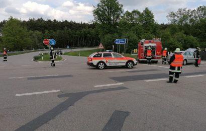 Verkehrsunfall an Autobahnanschlussstelle Regenstauf