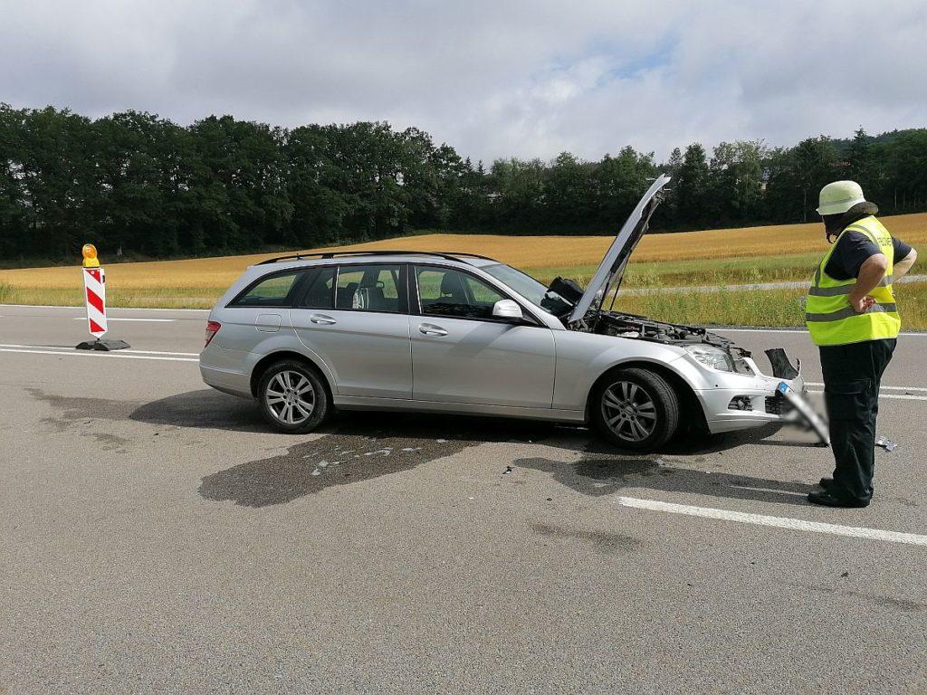 Beteiligtes Unfallfahrzeug Foto: Pressedienst Wagner