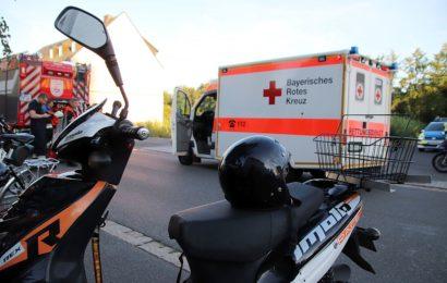 Unfall mit verletztem Rollerfahrer