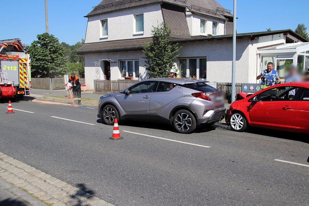Auffahrunfall in Grafenwöhr Foto: Jürgen Masching