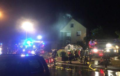 Wohnhausbrand durch Blitzeinschlag