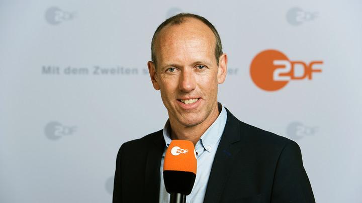 Martin Schneider, ZDF-Live-Reporter beim Audi-Cup 2019 Copyright: ZDF/Sandra Hoever