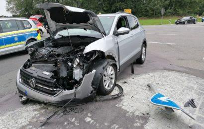 Verkehrsunfall mit einem Leichtverletzten bei Maxhütte-Haidhof