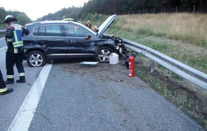 Verkehrsunfall auf der A6 ibei Kümnmersbruck Foto: Pressedienst Wagner