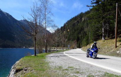 Mit Motorrad gestürzt