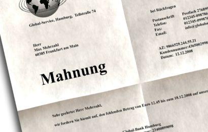 Betrug mittels falschem Inkasso-Schreiben in Schwandorf