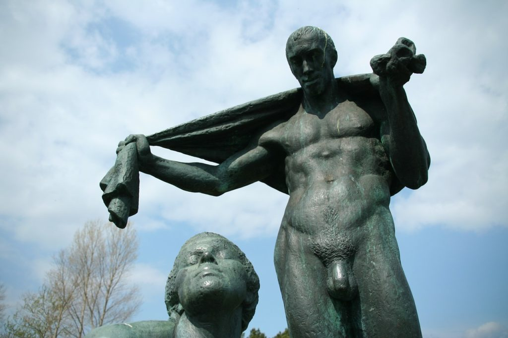 Symbolbild: Nackter Mann