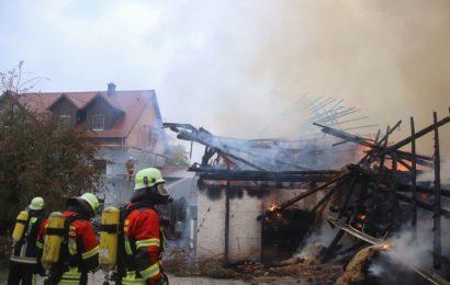 Brand eines Landwirtschaftlichen Anwesens in Erbendorf