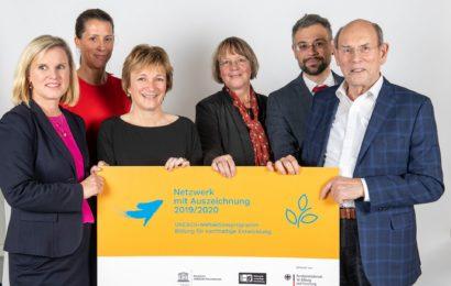 Bündnis für Ethik und Nachhaltigkeit erhält Auszeichnung vom BMBF und von der Deutschen UNESCO-Kommission