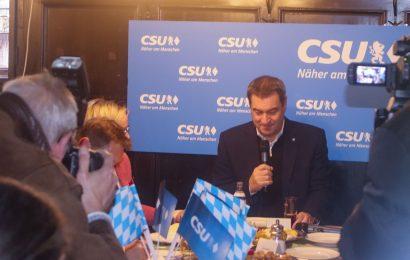 Der Bayerische Ministerpräsident Dr. Markus Söder besucht Amberg