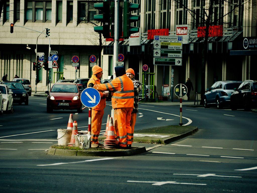 Symbolbild: Verkehrsinsel