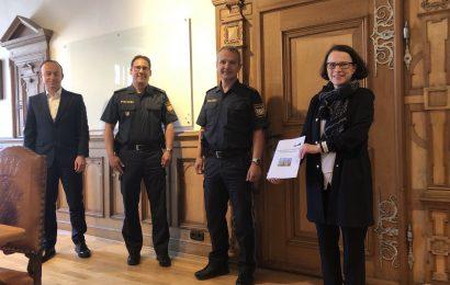 Die Polizeiinspektion Regensburg Süd berichtet über die Sicherheitslage in der Stadt