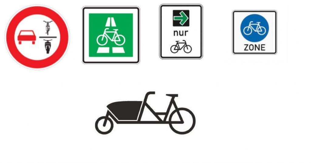 Neue Verkehrszeichen für Fahrradfahrer Quelle: Polizeipräsidium Oberpfalz
