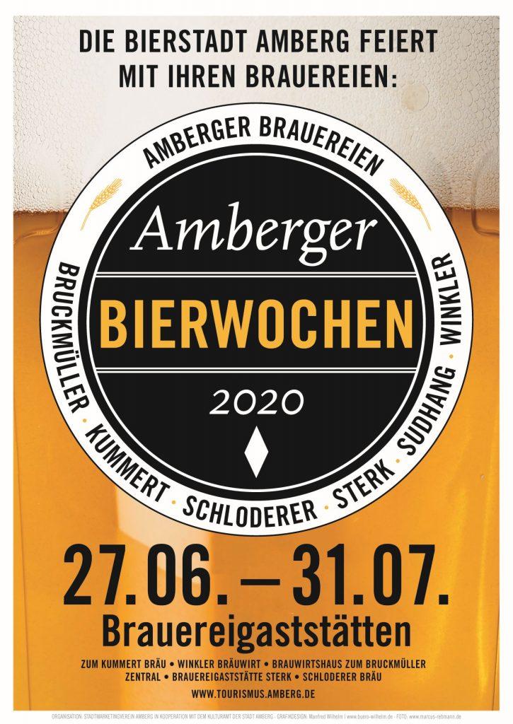 Das Plakat zu den Amberger Bierwochen