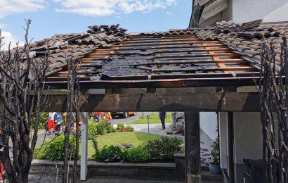 Unkrautvernichtung löst Brand in Schnaittenbach aus