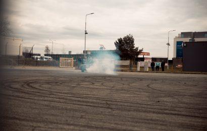 Kreisverkehrs-Drift in Cham