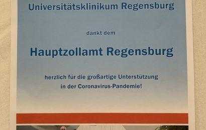 Dankesurkunde des Universitätsklinikums Regensburg Foto: Michael Lochner