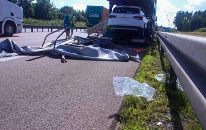 Verkehrsunfall mit zwei beteiligten LKW auf der A6 bei Ebermannsdorf