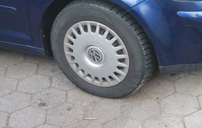 Sachbeschädigung an Fahrzeugreifen in Püchersreuth