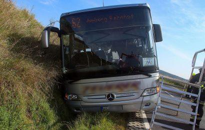 Linienbus nach Amberg landet im Straßengraben