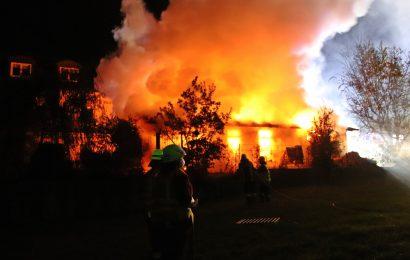 Brand eines Schuppens in Wollau