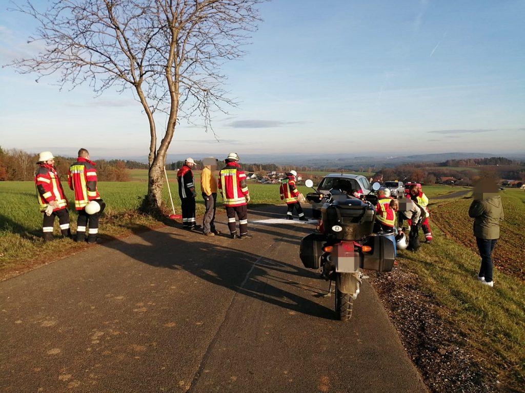 Der Fahrer des Motorrads wurde zum Glück nur leicht verletzt Foto: Oberpfalz Aktuell