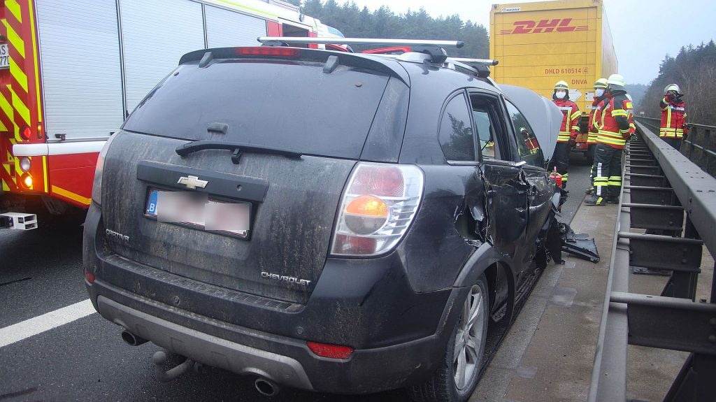 Der belgische Chevrolet wurde total beschädigt Foto: Pressedienst Wagner