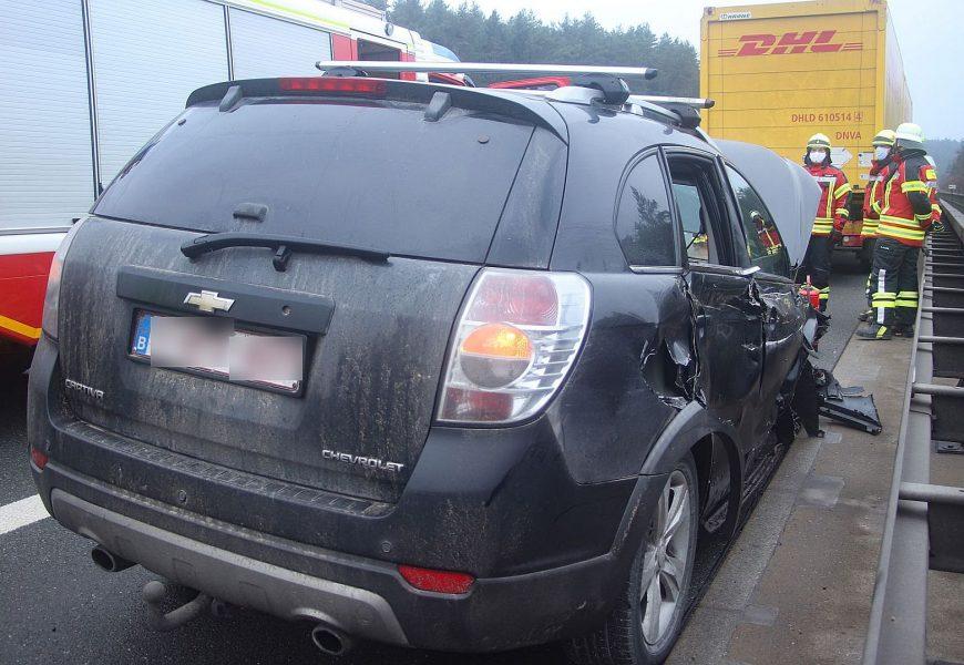 Verkehrsunfall mit LKW-Beteiligung auf der A6 bei Köfering