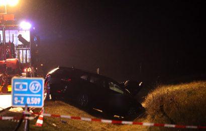 Zwei Polizeibeamte bei Verkehrsunfall auf A6 schwerstverletzt