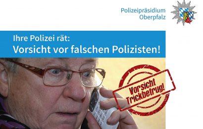 Falsche Polizeibeamte erbeuten in Regensburg Bargeld und Wertgegenstände im fünfstelligen Bereich