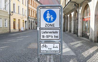 Befahren der Amberger Fußgängerzone mit Elektrokleinstfahrzeugen