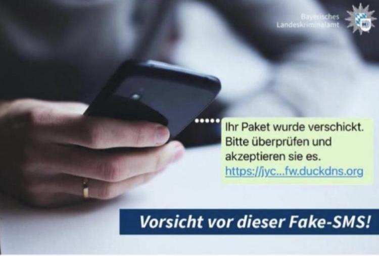 SMS Nachrichten mit Schadsoftware