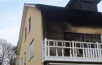 Brand eines Wohnhauses in Engelsdorf