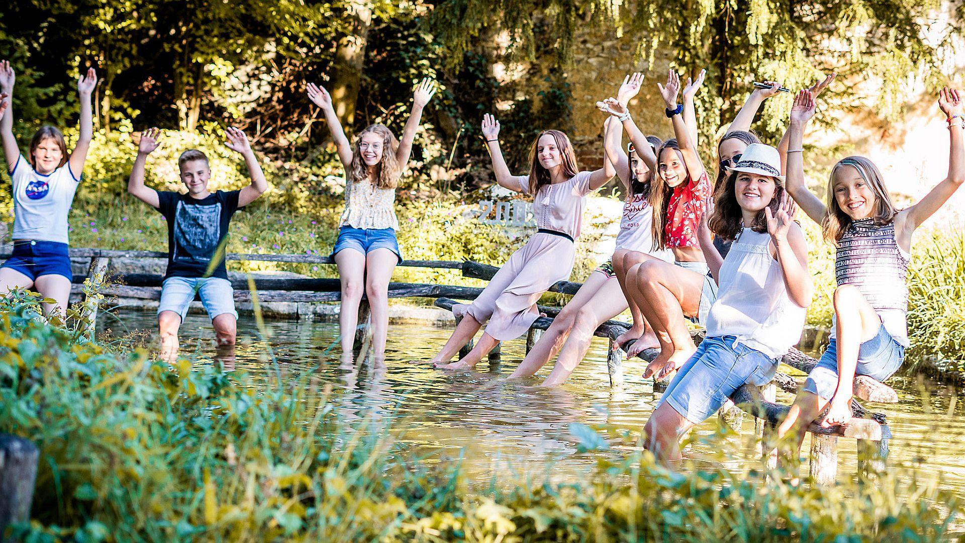 Ausgelassene Jugendliche beim Instagram-Workshop der KoJa Foto: Frederik Glaser