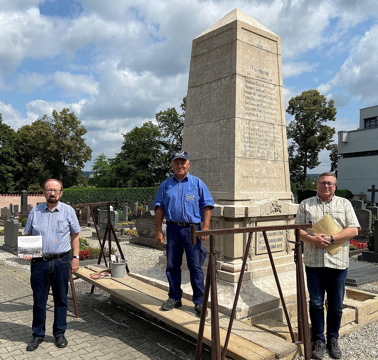Restaurierung des Franzosendenkmals in Kümmersbruck