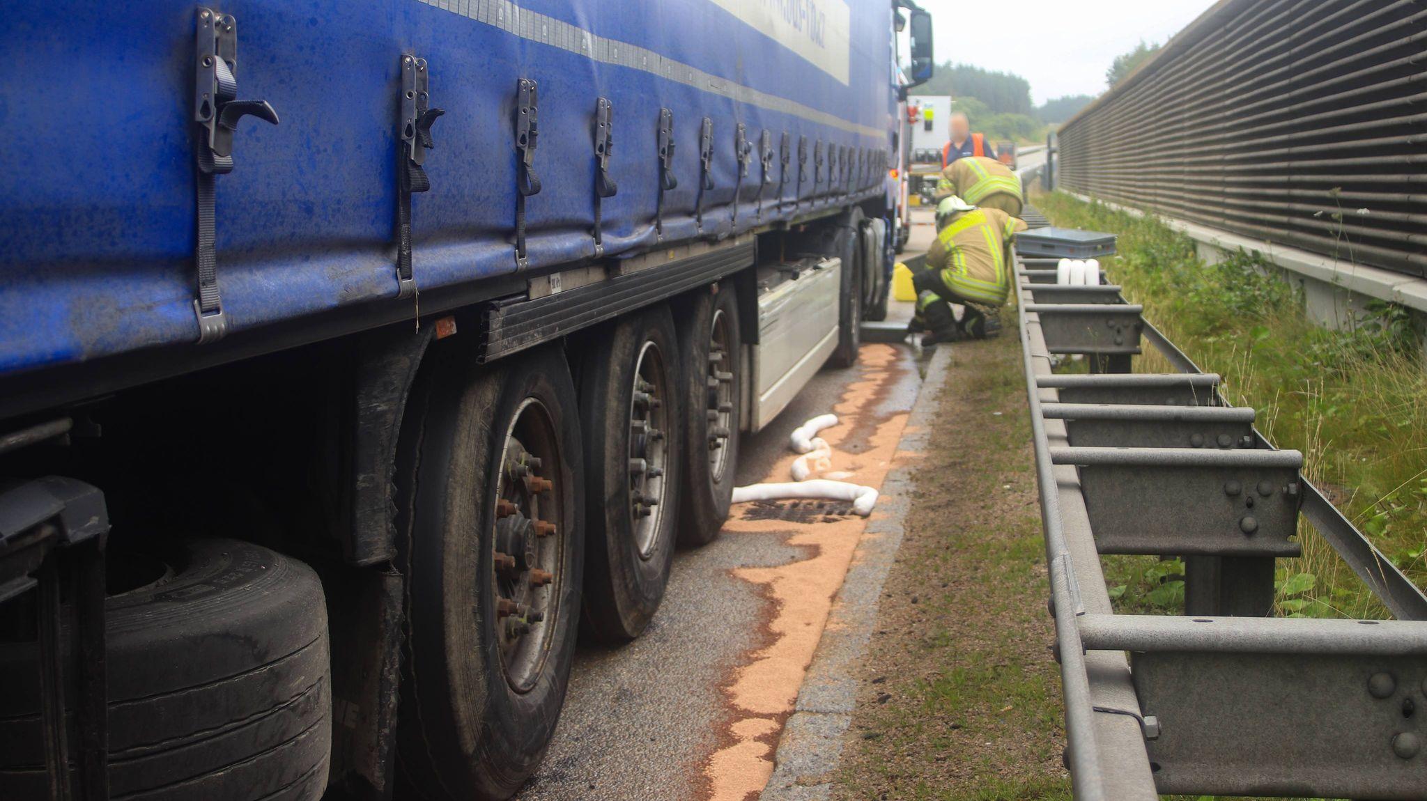 Verkehrsunfall mit LKW auf der A6 zwischen Amberg-Ost und Schmidgaden