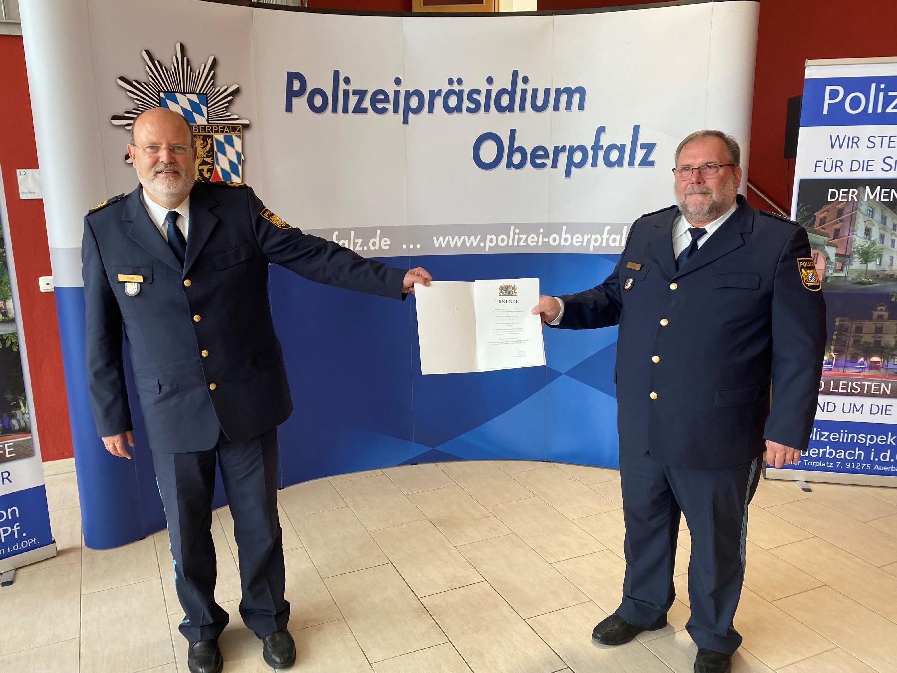 Dienststellenleiter EPHK Manfred Weiß in den Ruhestand verabschiedet